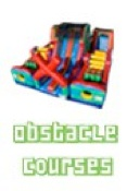 commercial bouncy castle obstacle
